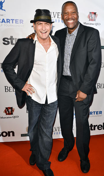 Charlie Sheen at the Joe Carter Classic after party to support the Children's Aid Foundation in Toronto