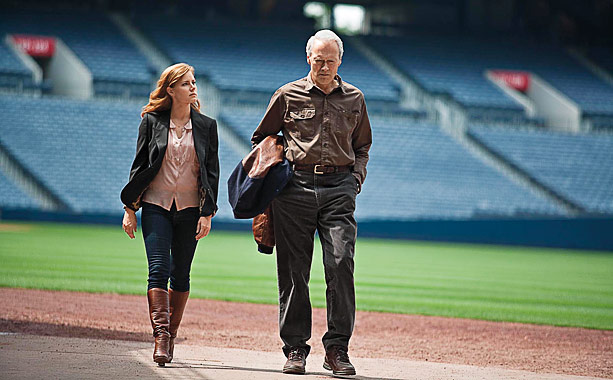 Tired '' Get off my lawn! '' growls from Clint Eastwood in an irredeemably derivative sports-redemption drama. Read Lisa's review.