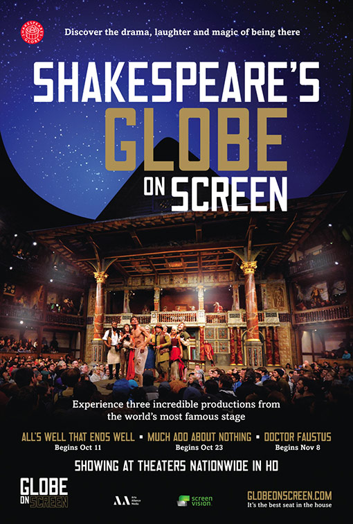 Globe On Screen Poster