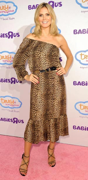 Heidi Klum unveils her Truly Scrumptious collection at Babies 'R' Us in New York City