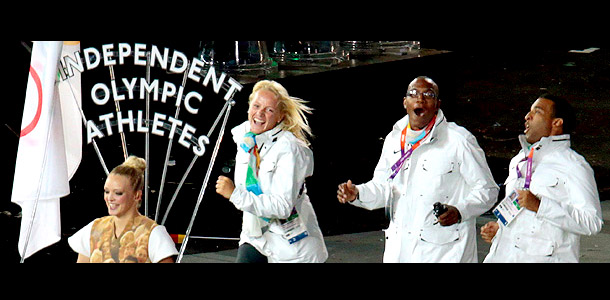Teams: Various Events: Various Mandi Bierly said: ''The Independent Olympic Athletes made their entrance during the Opening Ceremony's fast-paced Parade of Nations and we remembered…