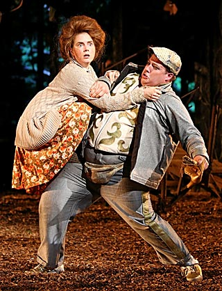 INTO THE WOODS Amy Adams and Josh Lamon
