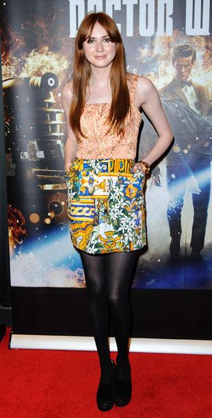 Karen Gillan (in Dolce & Gabbana) at the Doctor Who: Asylum of the Daleks preview screening in London