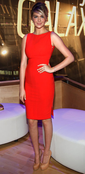 Kate Upton at the Samsung Galaxy Note 10.1 launch in New York City