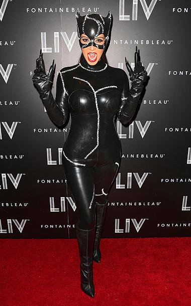 Nov. 1: Kim Kardashian ready for Halloween in Miami (photo taken on Oct. 31, 2012)