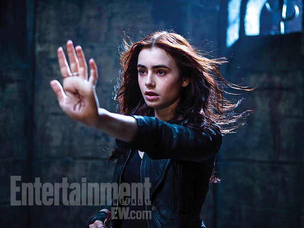 Nov. 14: Lily Collins as Clary Fray in ''Mortal Instruments: City of Bones,'' the YA novel adaptation due in summer 2013