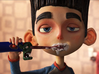 GHOST TALKER Preteen Norman (voiced by Kodi Smit-McPhee)faces a zombie invasion in ParaNorman