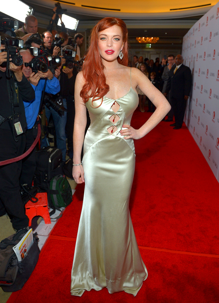 Nov. 21: Lindsay Lohan attends a private dinner for the Lifetime premiere of ''Liz & Dick'' at the Beverly Hills Hotel (photo taken on Nov. 20)