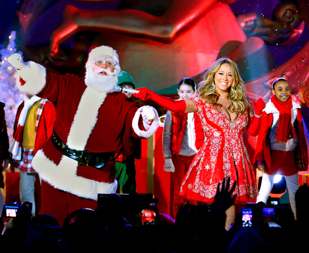 Nov. 28: Mariah Carey rehearses for ''Christmas in Rockefeller Center'' (photo taken Nov. 27)