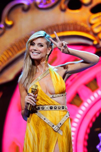 Nov. 12: Heidi Klum at the MTV Europe Music Awards in Frankfurt (photo taken on Nov. 11)