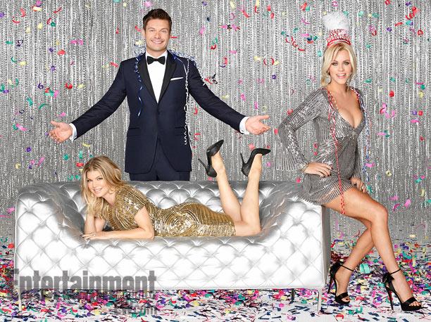 Dec. 10: Ryan Seacrest, Jenny McCarthy, and Fergie already dressed for ''Dick Clark's Primetime New Year's Rockin' Eve 2013''