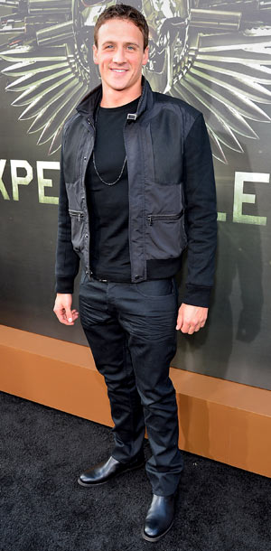 Ryan Lochte at the premiere of The Expendables 2 in Los Angeles