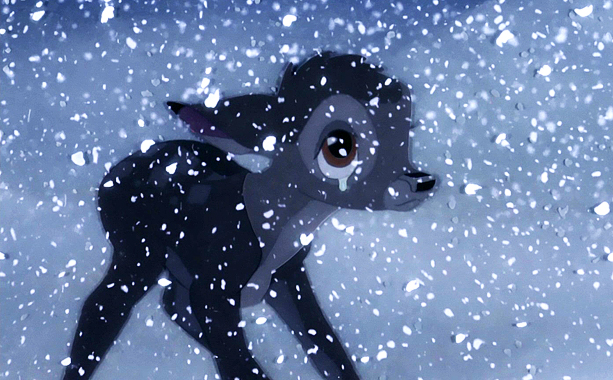 Bambi | Little is seen in the sequence when Bambi's mother is killed, but so much is felt. Her desperation to get him away is so palpable…