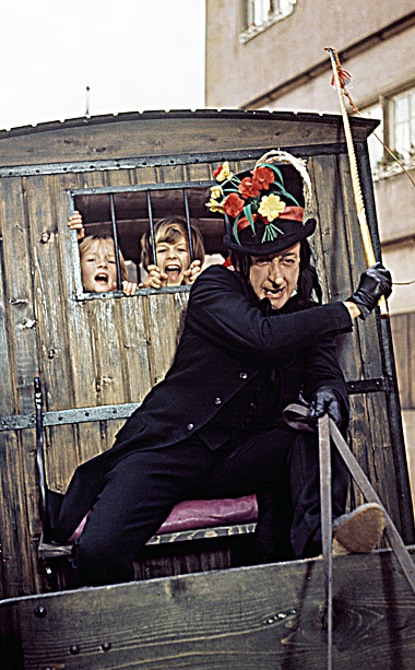 Chitty Chitty Bang Bang | Stranger danger! Stranger danger! As a kid, ''The Child Catcher'' was utterly terrifying. ''Lollipops! Ice cream! Chocolate! All free today!'' Not a chance. Nothing is…