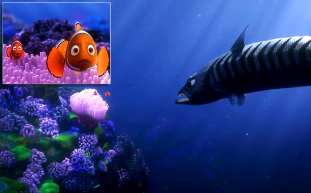 Finding Nemo | Big flashes of teeth and then silence. Leaving so much to the imagination was almost worse than actually seeing Nemo's mom's demise.— Abby West