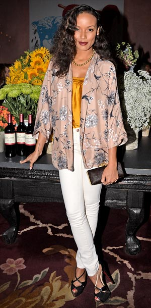 Selita Ebanks at the as Clos Du Bois launch of Rouge in New York City