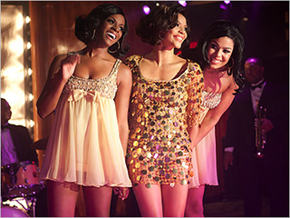 GLITTER AND GOLD Tika Sumpter, Carmen Ejogo, and Jordin Sparks sing like the Supremes in Sparkle