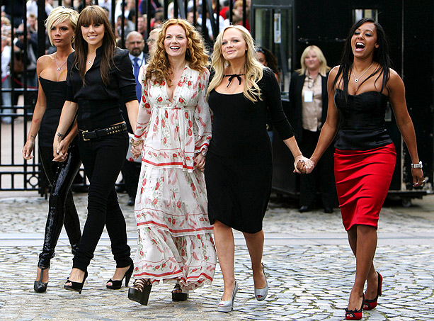 Emma Bunton, Spice Girls, ... | The ladies announced plans for a Spice Girls reunion tour and revealed their new looks during a press conference at London's O2 Arena on June…