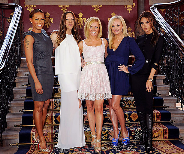 Emma Bunton, Spice Girls, ... | Beckham wore a dress from her eponymous label when the women gathered together at a press conference to promote Viva Forever , a Spice Girls…