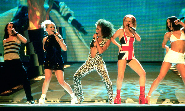 Emma Bunton, Spice Girls, ... | When the girls hit the stage to perform at the 1997 Brit Awards, Ginger (Geri Halliwell) caused a commotion in her Union Jack mini-dress. ''This…