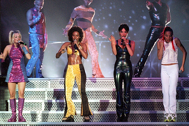 Emma Bunton, Spice Girls, ... | Following Geri Halliwell's departure in May 1998, the four remaining Spice Girls soldiered on through their sold-out Spiceworld tour, which featured outer-space-themed sets and costumes…