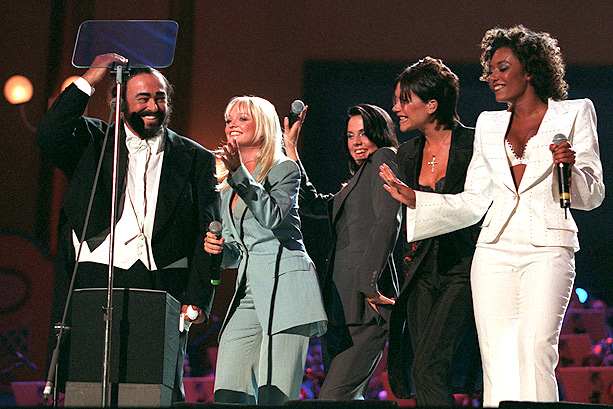 Emma Bunton, Spice Girls, ... | In June 1998, the ladies toned down their dress when they joined opera legend Luciano Pavarotti at a benefit concert for children in war-torn Liberia.…