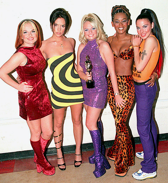 Emma Bunton, Spice Girls, ... | Geri Halliwell, Victoria Adams, Emma Bunton, Melanie Brown, and Melanie Chisolm hadn't yet released their first album — or hired a decent stylist — when…