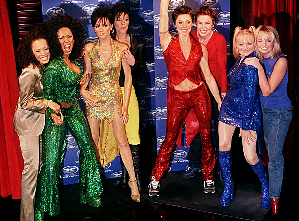 Emma Bunton, Spice Girls, ... | In December 1999, the women presented their sequin-swathed doppelgängers to the press at Madame Tussaud's Rock Circus in London. ''I hope I'm put near Posh,…