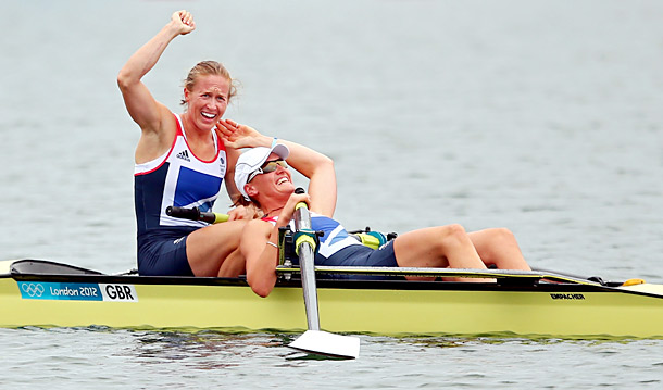 Team: Great Britain Event: Rowing, 2000m Women's Pairs (Gold) Annie Barrett said: ''Glover, 26, a former PE teacher from Cornwall, answered a British sporting agency's…