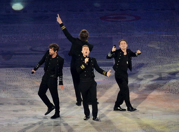 Summer Olympics 2012   Some questionable (and highly Gif-able) dancing-while-walking choices from Take That member Jason Orange aside, the group beloved by Princes William and Harry wrapped up the…