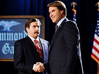 PAINFULLY FUNNY POLITICS Zach Galifianakis and Will Ferrell face off in The Campaign