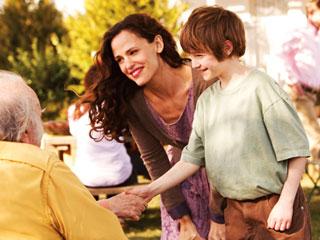 FAMILY FUN Jennifer Garner and CJ Adams bond in The Odd Life of Timothy Green