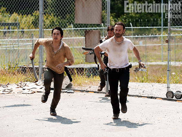 The Walking Dead | Rick, Glenn (Steven Yeun), and the survivors break into a prison and attempt to clear out all the zombies and make it their new home.
