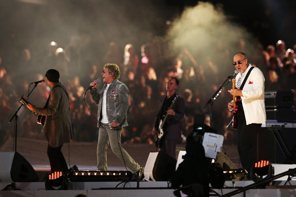 The Who, Summer Olympics 2012   Here's what you didn't see directly after Take That. Why? Because NBC cut away from a performance by The Who to pimp its new series…