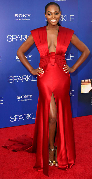 Tika Sumpter at the premiere of Sparkle in Los Angeles