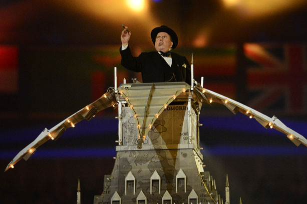Timothy Spall, Summer Olympics 2012   All due respect to creative director and choreographer Kim Gavin, but for most of the first half of the evening, the marching orders for ''A…