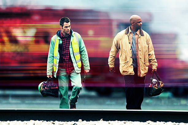 Chris Pine, Denzel Washington, ...   Scott's fifth film with Washington was indeed one of the pair's greatest collaborations. Set on a train that was...well...the title says it all, the claustrophobic…