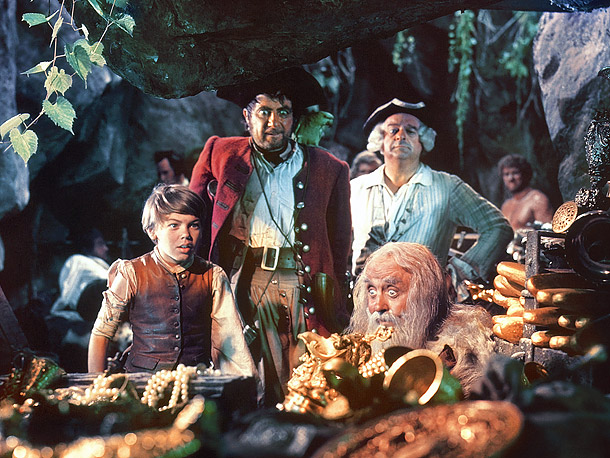 Based on Robert Louis Stevenson's briny adventure novel, Disney's first entirely live-action feature, starring Bobby Driscoll as boy hero Jim Hawkins and Robert Newton as…