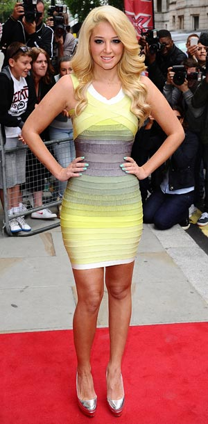 Tulisa Contostavlos at the launch of The X Factor in London