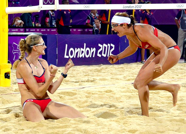 Team: USA Event: Women's Beach Volleyball (Gold) Annie Barrett said: ''The pair...have been finding sand in weird places together for TWELVE YEARS. That's nearly 2.1…