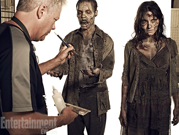 The Walking Dead | Death will look a little different this season. Schoneberg works on the latest crop of walkers.