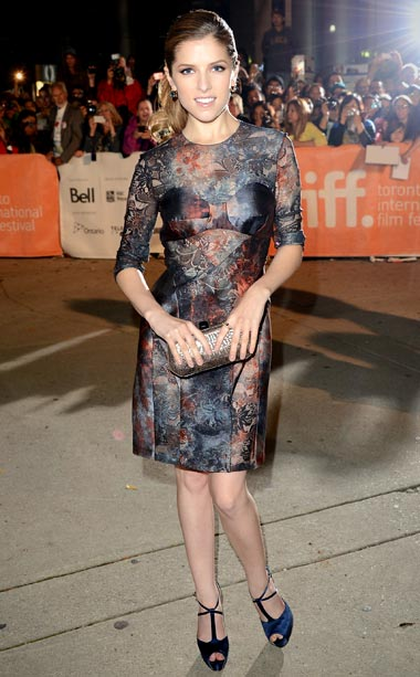 Anna Kendrick (in in Elie Saab) at the premiere of End of Watch