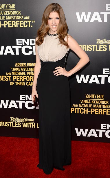 Anna Kendrick (in Elie Saab) at the L.A. premiere of End of Watch
