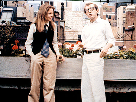 Annie Hall, Diane Keaton, ... | Designer: Ralph Lauren Diane Keaton was the leading lady in this seminal Woody Allen film, but her look was anything but feminine. Costume designer Ruth…
