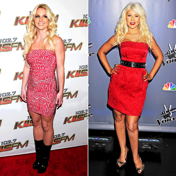 At KIIS FM's Wango Tango 2011 concert, Britney ruined the look of her strapless frock with a pair of clunky boots. Aguilera's footwear choice for…