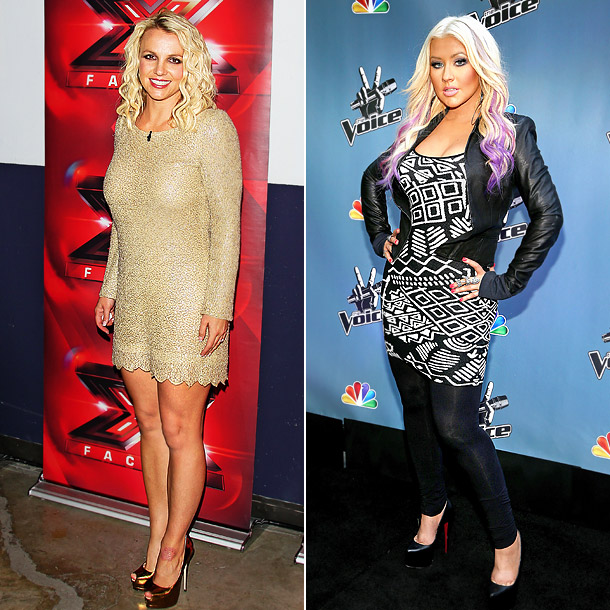 This summer, Spears seemed comfortable in a sparkly beige dress while on tour with The X-Factor , but Aguilera struck a sour note in a…
