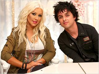 Christina Aguilera Billy Joe Armstrong