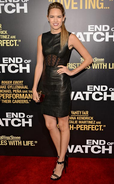 Cody Horn (in Jason Wu) at the L.A. premiere of End of Watch