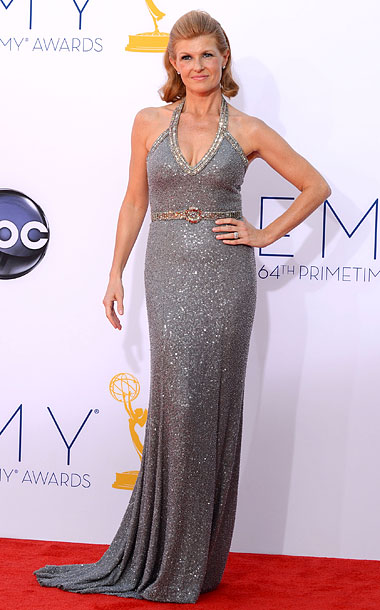 Bronwyn says: This metallic gown is gorgeous, but I think Britton would have looked even better in Hayden Panettiere's gown . And vice versa .…