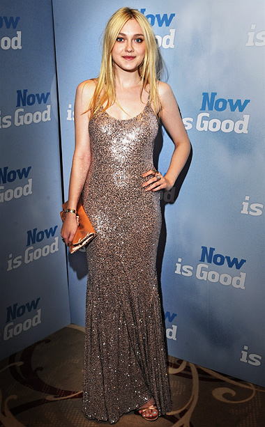 Dakota Fanning in Stella McCartney at the Now is Good premiere in London